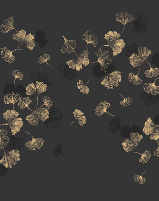 Gingko - Silk Wallpaper Design